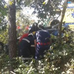 Acidente aparatoso entre três viaturas em Oliveira do Hospital causa um ferido